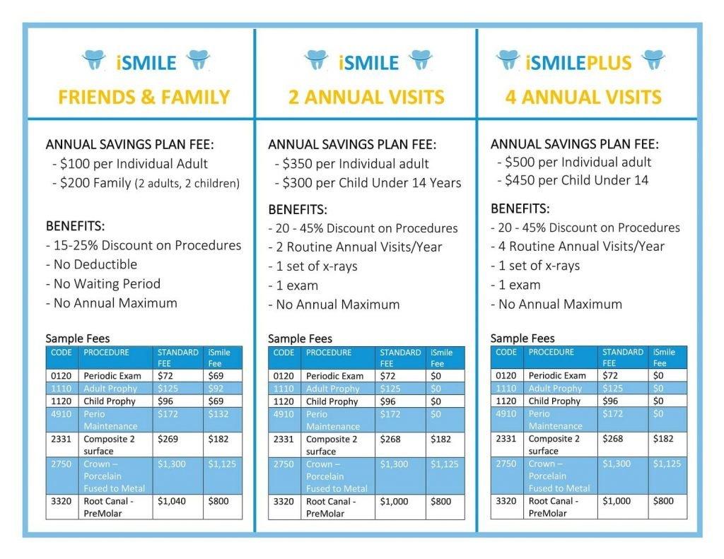 iSMILE Dental Savings plan rev 10.17.19-1