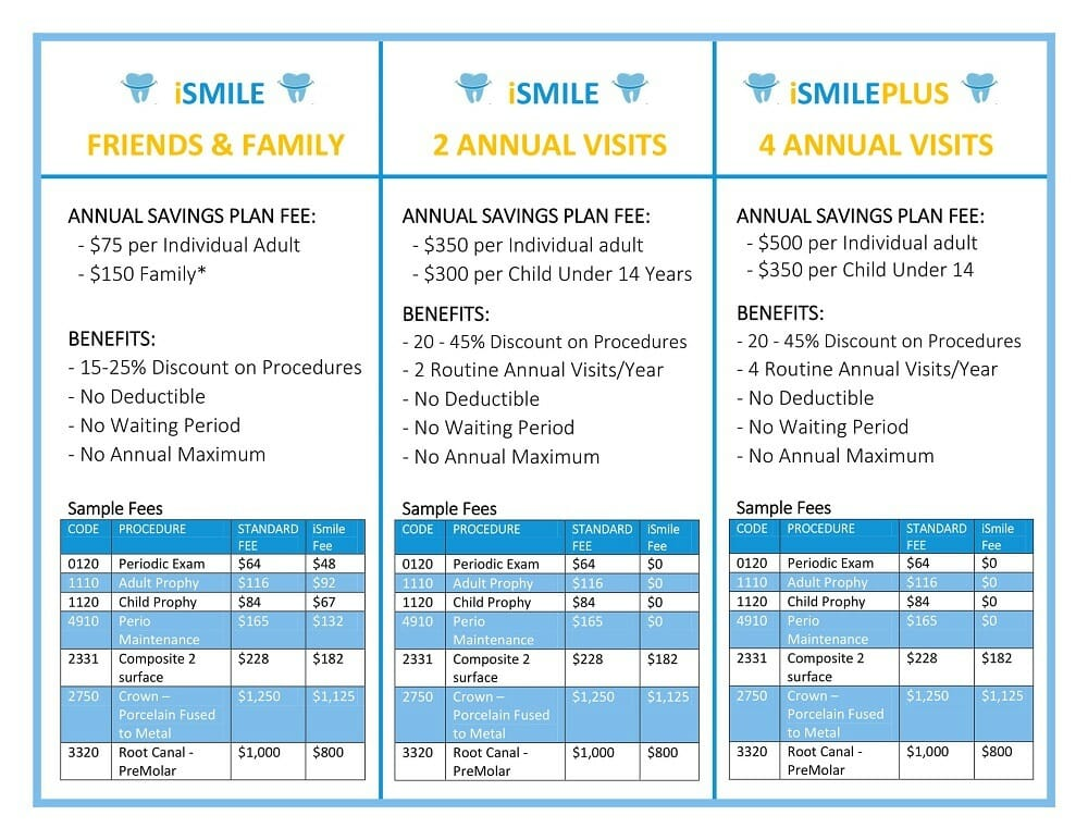 iSMILE Dental Savings plan rev 10.30.19-1
